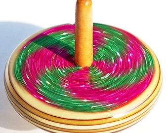 wooden spin top Spinning top- loona park glitters on Wood spin toy glitter dreidel