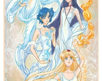 The Inner senshi, Pretty Sailor Moon Poster