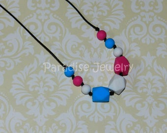 Teething Necklace Nursing Necklace for Mommy and Baby Chew Beads Food-Grade Silicone Baby Safe Gift for Her