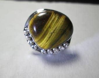 Ring,size 7...   Tiger's Eye, sterling silver