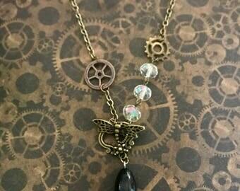 Art nouveau 2 steampunk necklace