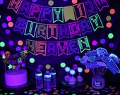 glow party banner - glow party - glow party decor - glow in the dark party - neon party - neon birthday - neon party decor - neon banner