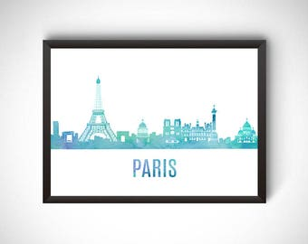 Paris wall art, Paris digital prints, Paris printable, prints, Paris poster, city poster, printable instant download, travel gift, Paris