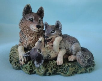 Wolves at Play Hallmark Ornament Majestic Wilderness Series Ornament/Timber Wolves at Play