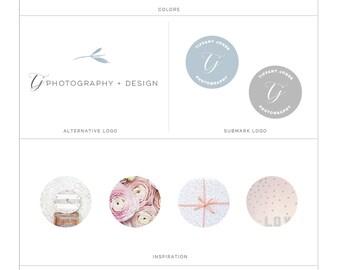 Photography Premade Branding Kit, Premade Branding Package Kit, Calligraphy Logo, Minimalist Logo Branding Kit, Premade Logo, s123