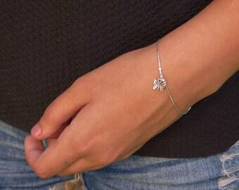Butterfly Bracelet, Silver Butterfly Bracelets, Sterling Silver Butterfly Bracelets, Butterfly Charm Bracelet, Feminine Butterfly Bracelet.