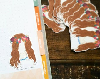 Handdrawn Heavenly Mother Die Cuts Planner Stickers by Lavish Paper Co. for TN Planners, Erin Condren, Happy Planner, inkWell Press & More!
