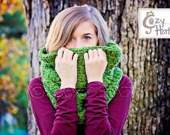 Hooded Cowl / Hooded Scarf / Crochet Cowl / Snood Hood / Chunky Cowl / Custom Color // Sofi //