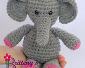 Elephant Stuffed Animal / Crochet Elephant Stuffed Animal / Crochet Plush Elephant Toy / Elephant Stuffy / Elephant Snuggly Pal