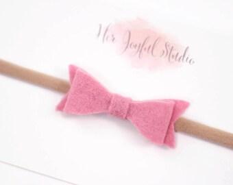 pink newborn headband, baby headband, newborn girl headband, baby girl, baby girl headband, newborn, newborn baby, headbands, baby, FOXGLOVE