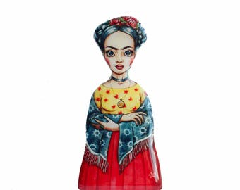 Frida kahlo pin Feminist gift woman power pin feminist pin Nasty woman pin Frida Kahlo jewelry girl power pin diego rivera mexico enamel pin