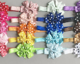 CLEARANCE Baby headbands, 20 colors, 3 inch bow, bow headband, big bows, infant headbands, baby headband, baby gift, girl gift, new baby