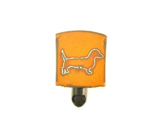 Dachshund Wiener Dog Rusty Metal Night Light