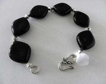 Black Genuine Onyx Bracelet