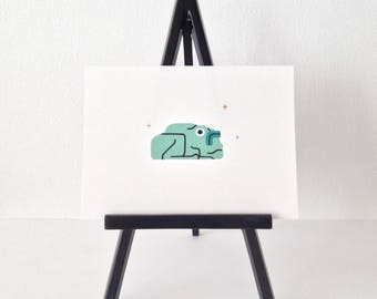 Frog #1- original gouache painting