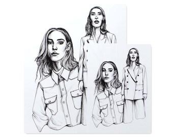 Stylist Issue 302 II / Art Print / Fashion Illustration / Style Illustration