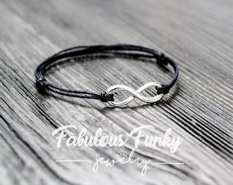 Infinity bracelet - black / silver