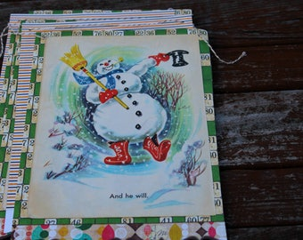 Frosty the Snowman Storybook Bunting (VINTAGE)