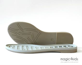 Rubber soles with insoles - high quality flats soles for women, very light, women sizes, soles for shoes