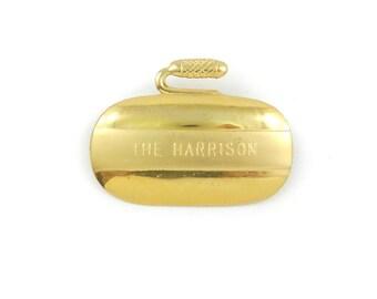Vintage Curling Stone Brooch, The Harrison