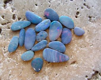 Natural Opal Doublets 17 stone parcel