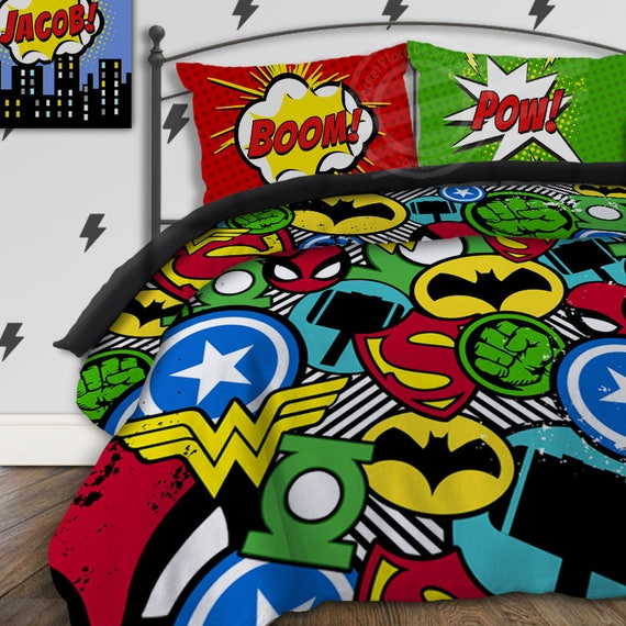 Boys Superhero Room Decor: Superhero Bedding For Boys Bedding Twin Boys Superhero Bedroom