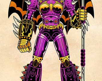 Batgirl Shogun Warrior, Color, 11 x 17 Print by Darryl Young