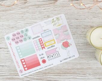 Spring Bunny Mini Happy Planner Kit; Weekly Kit; TN Kit; Planner Stickers; Mambi; Mini Kit; Bunny Stickers; Spring Weekly Kit