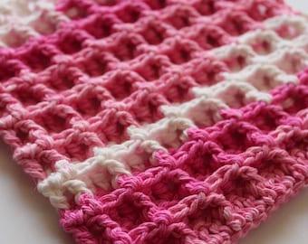 Granny's Textured Crochet Dishcloth, Crochet Dishcloth, Crochet Washcloth, Cotton Dishcloth, Ready to Ship