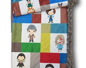 The Walking Dead, Zombie Baby, Zombie, Halloween Baby Blanket, Halloween Baby Quilt, Baby Quilt, Baby Gift, Walking Dead, Zombies, Quilt