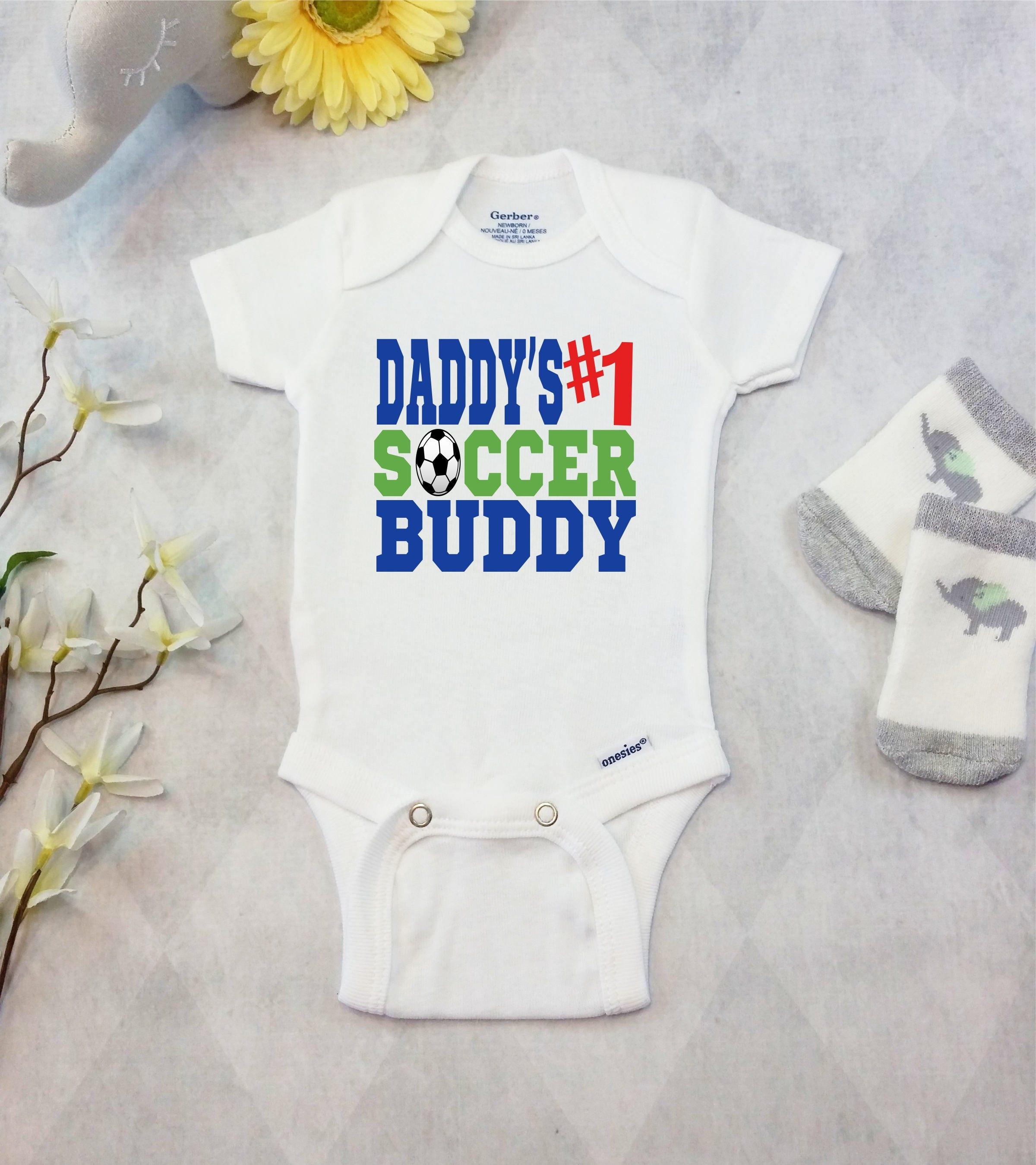 Daddy s Soccer Buddy esies Brand Bodysuit Baby Boy Soccer Outfit