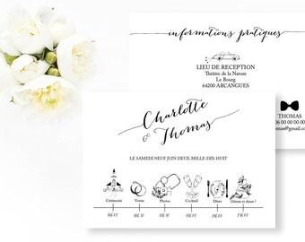 Sehr Programme de mariage fleurs à imprimer Programme mariage RV01