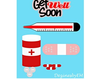 Get Well Soon SVG for Silhouette and Cricut. Get Well Soon SVG vector.