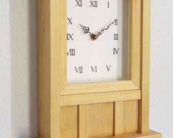 Wall Clock, Table Clock, Wood Clock with Pendulum, Small Clock, Mantel Clock, Small Wall Clock, Wall Clock Wood, Small Table Clock, Handmade