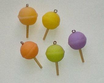 X 1 round lollipop 3D fimo