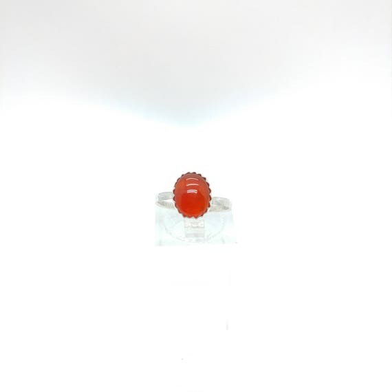 Carnelian Stone Ring | Sterling Silver Ring Sz 6 | Carnelian Agate Ring | Red Stone Ring | Gift for Her | Stone for Balance & Protection