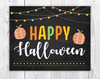 Happy halloween sign | Etsy