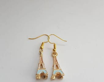 Eiffel tower earrings, french earrings, french jewelry, paris earrings, paris jewelry, landmark earrings, travel gift, gifts for her,