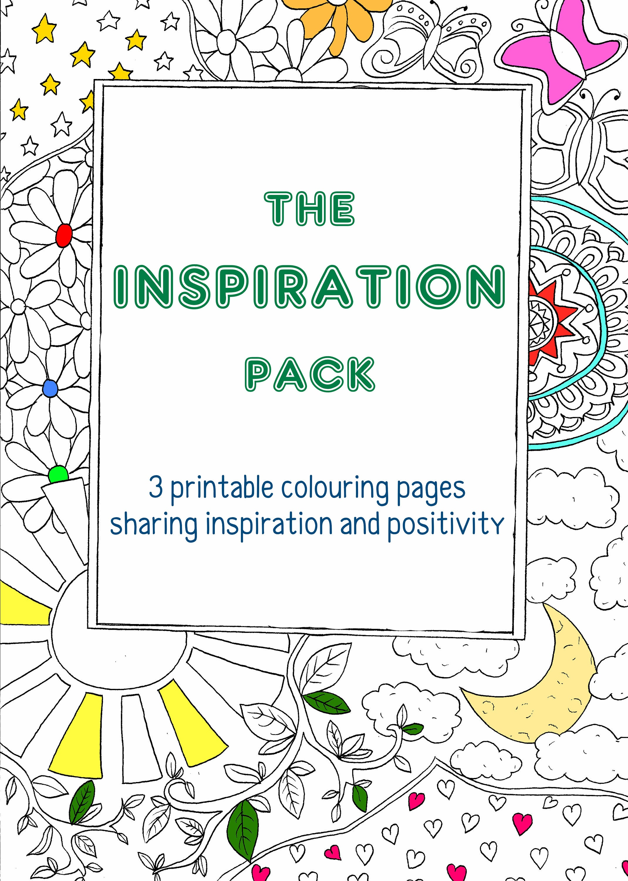 inspiration pack 3 digital colouring pages coloring
