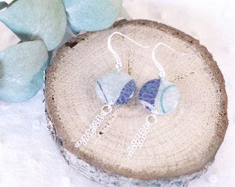 Boucles d'oreille blanche dentelle - Argent 925