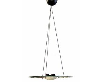 Contemporary Sguish Glass Pendant Light Fixture for Bieffeplast Italian 1980s