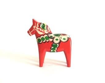 "Vintage Swedish Dala Horse by Nils Olsson - 6"" tall"