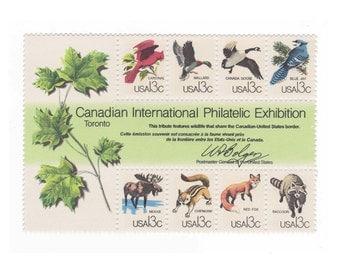 1978 Unused Vintage US Postage Stamps - Canadian Wildlife - Pack of 8 - No. 1757