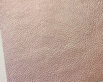 Blush Leatherette Sheet A4 / 8X11 or A5 Size Pearlised Faux Leather Fabric Thick 1.2mm Blushed Pink