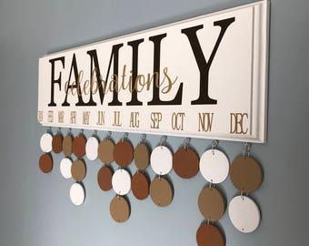Family Celebrations calendar, Birthady organizer, Family Birthday board