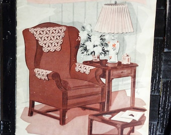 Vintage Chair Sets to Crochet, Doily Patterns from The Spool Cotton Company 1939