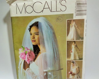 UNCUT McCall's #3508 Alicyn Exclusives BRIDAL VEILS 2003