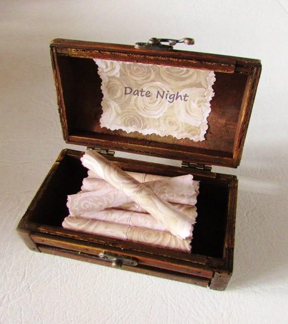 Anniversary Date Night Scroll Box Anniversary Gift Idea Wife Anniversary Girlfriend Anniversary Birthday Gift Date Night Idea Scroll Box