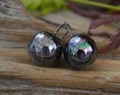 Schwarzer Opal - handgemachte Porzellan Kugeln