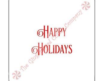 Happy Holidays Cookie Stencil